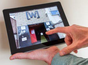 3D-тур ресторана на планшете