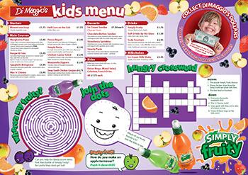 Детское меню в ресторане идеи