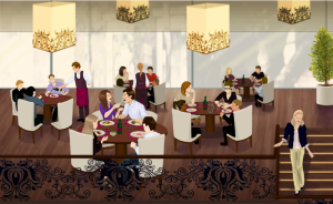 дизайн интерьера в ресторане