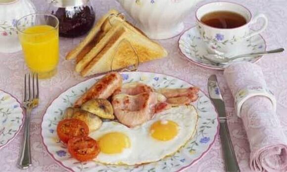 избавиться от похмелья - завтрак
