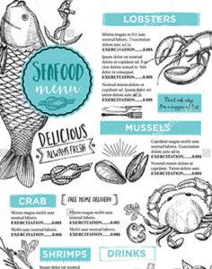 Рестораны с морской кухней -меню