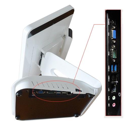 Переваги POS-моноблока - набір портів для підключення периферійного обладнання