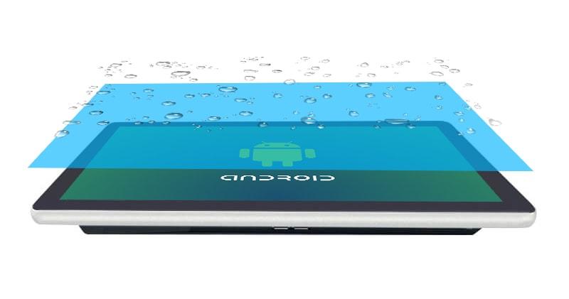 Переваги POS-моноблока - захищений довговічний екран